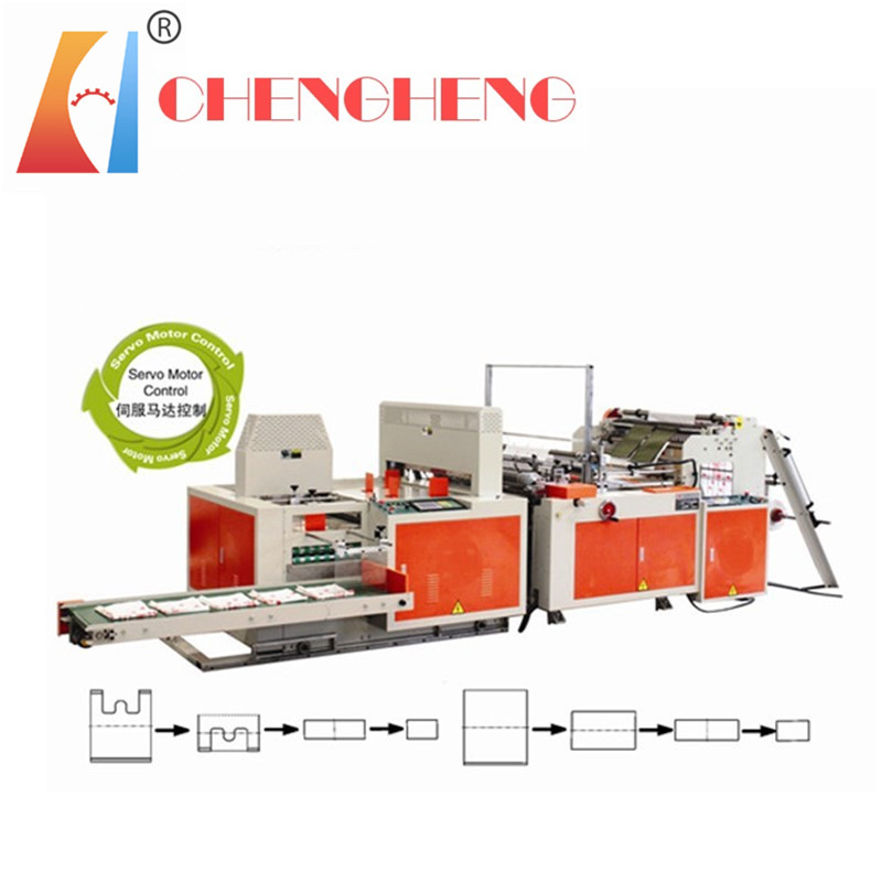 CH-SZ  3 Folfing garbage bag making machine