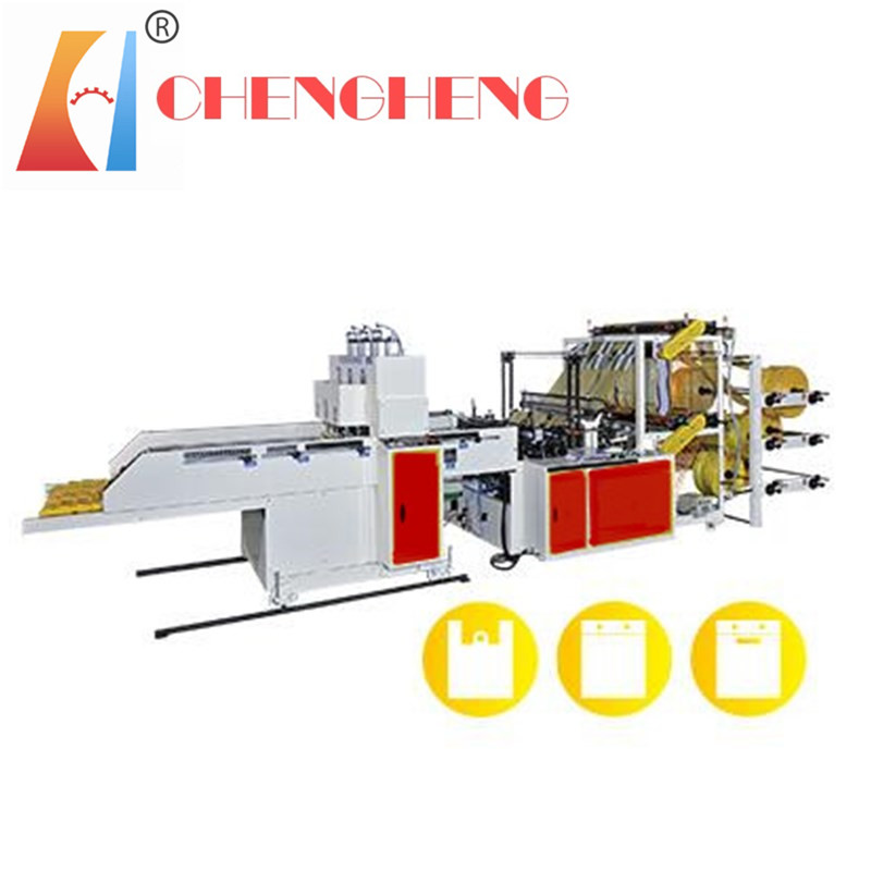 CH-ST-C2 Full Automatic T-shirt Bag making machine Cold cutting